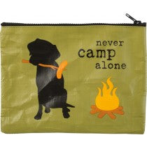 Never Camp Alone Zipper Pouch