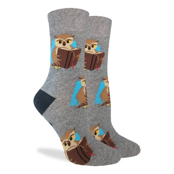 Book Owl Socks