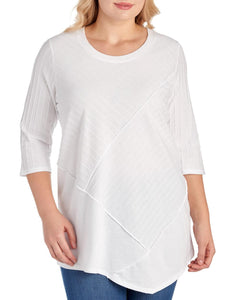 Plus Size Textured Tunic