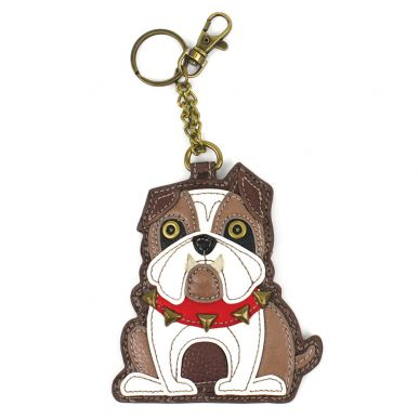 Chala Pals Bulldog Key Fob/Coin Purse