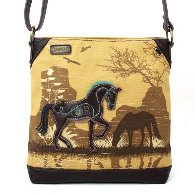 Chala Horse Canvas Cross Body Bag