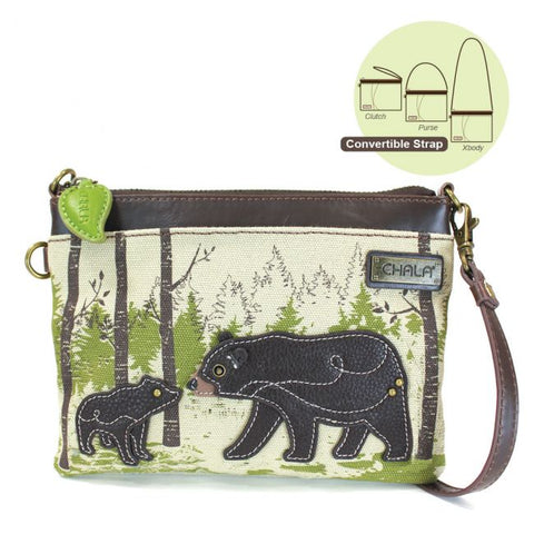 Chala Bear Canvas Cross Body