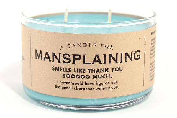 Mansplaining Candle