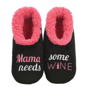 snoozies! Mama Needs Some Wine Slippers