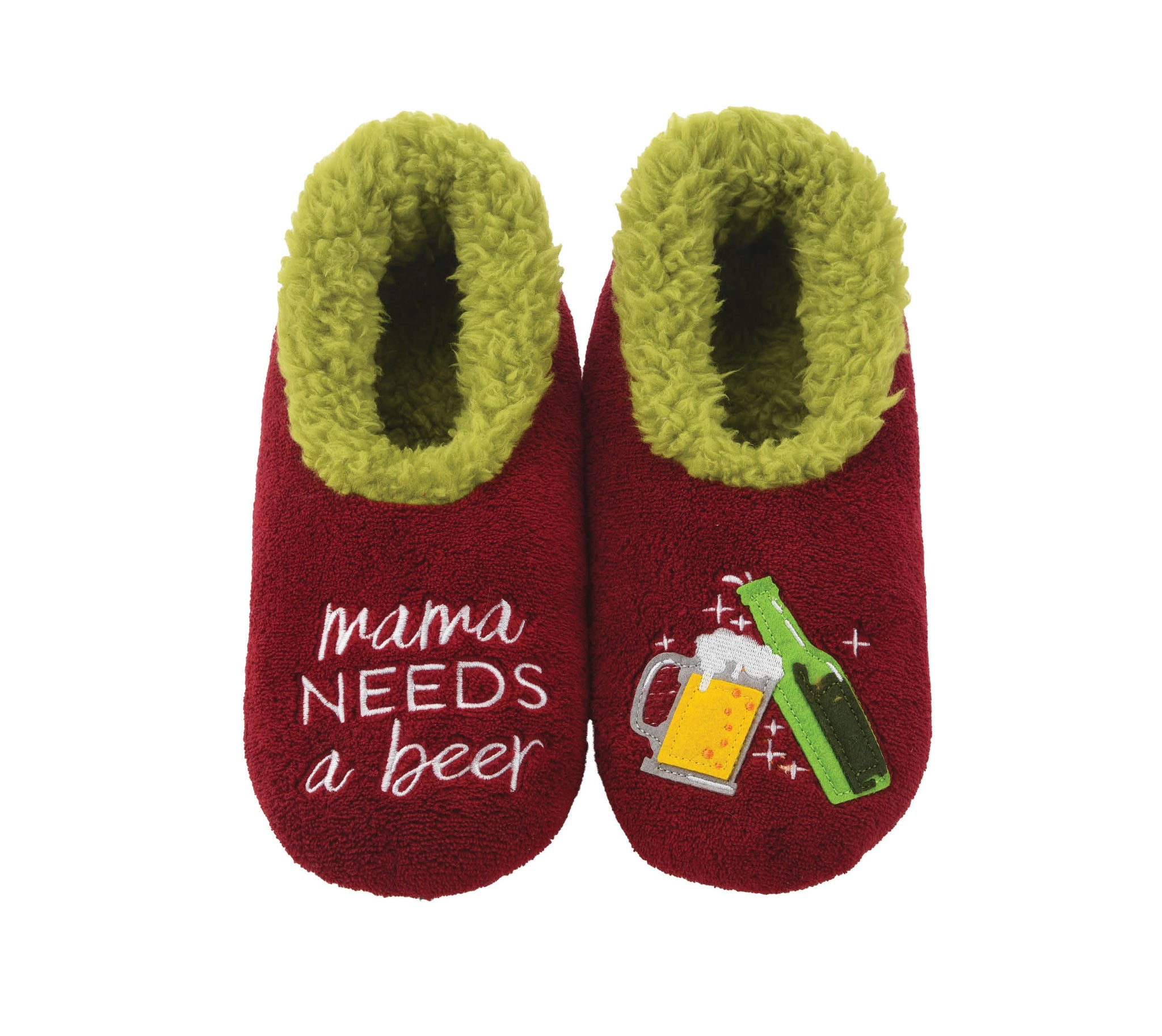 snoozies! Mama Needs A Beer Slippers