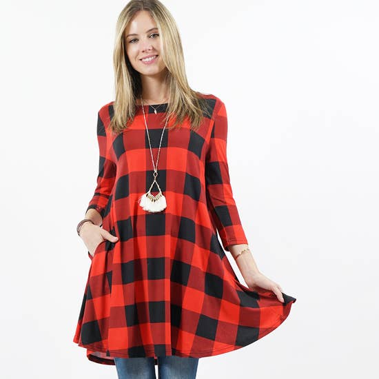 Buffalo Plaid Tunics