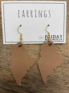 Maine Leather Earrings