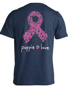 Pink Ribbon/ Breast Cancer Awareness Puppie T-Shirt