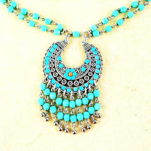 Collier fantaisie turquoise