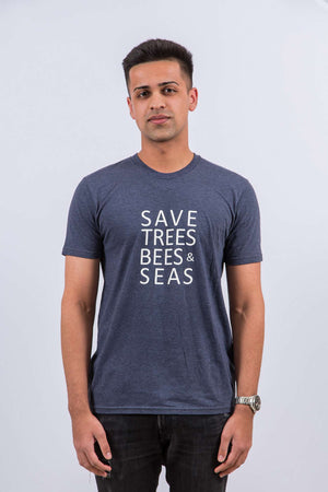 Save Bees, Trees and Seas (Short Blue)