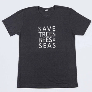Save Bees, Trees and Seas (Short Black)