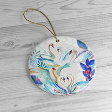 Load image into Gallery viewer, Seven Swans Ceramic Ornaments