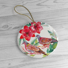 Load image into Gallery viewer, Two Turtle Doves Ceramic Ornaments