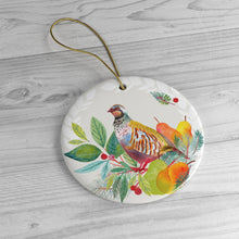 Load image into Gallery viewer, Partridge in a Pear Tree Ceramic Ornaments