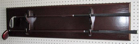 Sword Display Plaque Rack Holder Wall Rack, Alternative to Display Case (Mahogany)