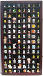 100 Thimble Display Case Wall Cabinet Holder Shadow Box, with Real Glass Door and Felt Interior Background-Mahogany Finish (TC100-MAH)
