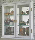 Small Wall Mounted Curio Cabinet / Wall Display Case with glass door (Black Finish)