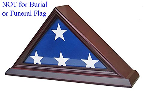 3' X 5' American Flag Display Case Stand Shadow Box (Not for Funeral flag) , FC35-CHE