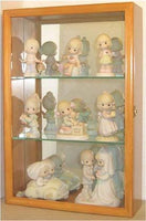 Wall Curio Cabinet / Precious Moments Figurines Display Case, Glass Door, Mirrored Back, CD01B-OA