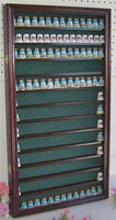 180 Thimble Display Case Wall Cabinet Shadow Box, with glass door, TC10-MA