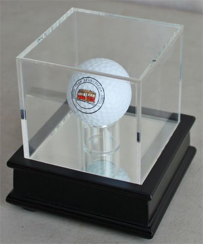 Golf Ball Display Stand Case GB13-BLA (Black Stand)