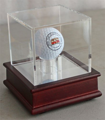 Golf Ball Display Stand Case, Cherry finish, GB13 (Cherry Stand)
