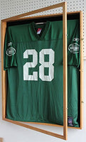 XX Large Football/Hockey Uniform Jersey Display Case Frame, UV Protection Ultra Clear, Locks