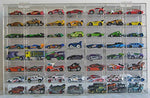 Hot Wheels Display Case 56 compartment for 1/64 scale Nascar Diecase Pixar Car Redline (AHW64-56)
