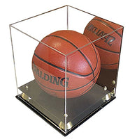 Deluxe Acrylic Full Size Basketball Display Case Stand, UV protection (with Mirror Backing)