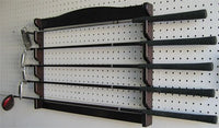 5 Golf Clubs Display Wall Mounted Rack, Solid Wood, GC05