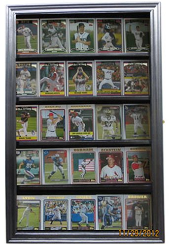 Sport Trading Card/Pokemon Card Display Case Wall Cabinet Shadow Box, SPC01-BLA