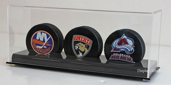 Hockey Puck Holder Display Case Stand (3-Puck Stand)