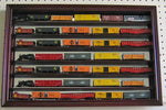 N/Z Scale Model Train Display Case Wall Shadow Box Cabinet