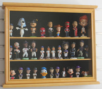"Display Case Cabinet Stand for 4"" Mini / SMALL Bobble Head, Wobbler, Toy Figures, Oak finish CD-SC04B-OA"