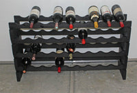 MAGNUM bottle Stackable Modular Wine Rack Storage Stand Wooden Holder Shelves, WN50 (Black Finished)