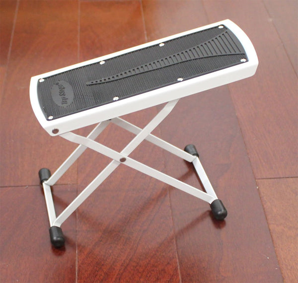 Top Stage 6-Position Height Adjustable Guitar Foot Rest, Color White