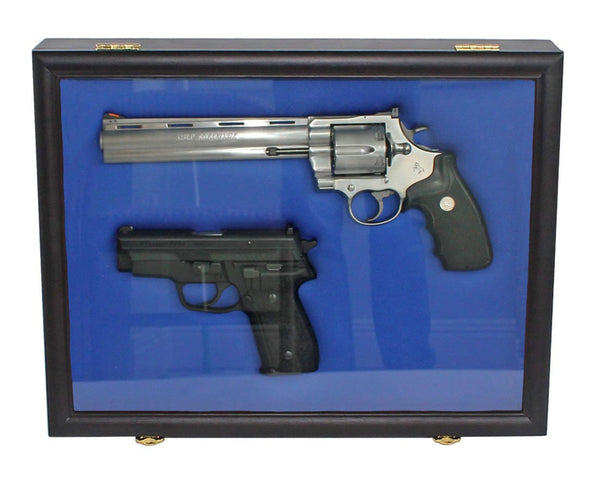 Pistol Airsoft Gun / Handgun display case shadow box, Lockable GN01 (BLACK)
