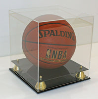 Deluxe Acrylic Full Size Basketball Display Case Stand, UV protection (No Mirror Backing)