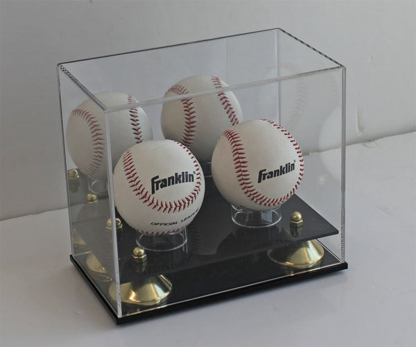 1 Softball OR 2 Baseballs Display Case Stand Holder MH09