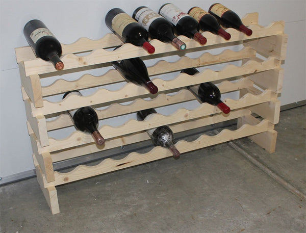 MAGNUM bottle Stackable Modular Wine Rack Storage Stand Wooden Holder Shelves, WN50 (Natural wood)