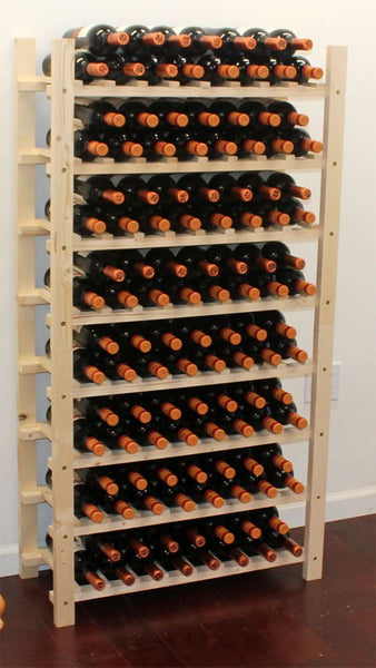 Stackable Wine Rack Wooden Stand, WN60-Q2 (120 Bottle Capacity: 8 rows)