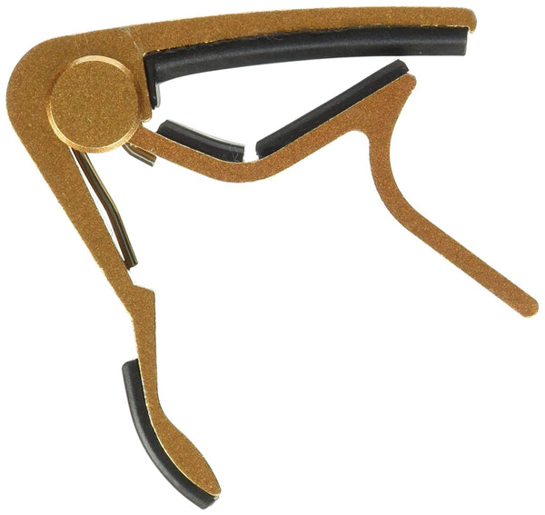 Top Stage Trigger Curved Guitar Capo - Champagne color