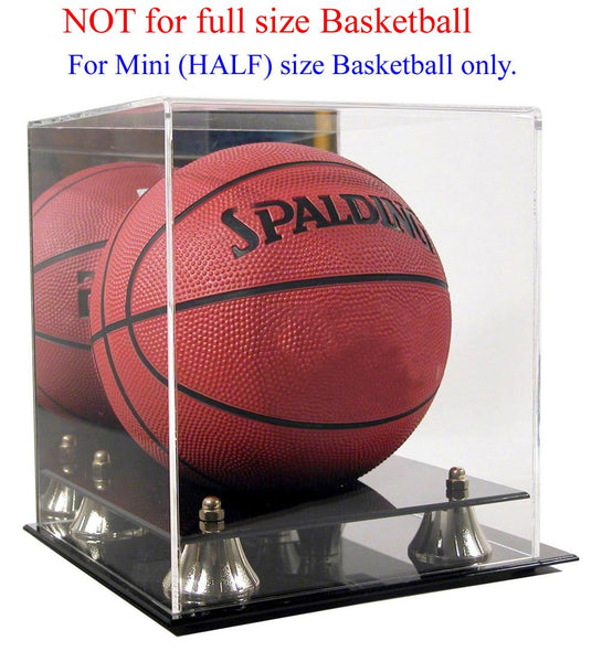 "7"" MINI Basketball Display Case Stand with Mirror, UV Protection, AC-BB17"