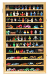 Hot Wheels Matchbox 1/64 scale Diecast Display Case Cabinet Wall Rack w/UV Protection (Oak Finish)
