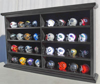 32 Pocket Pro mini Helmet Display Case Cabinet Holders Rack w/ UV Protection, MH07-BLA
