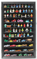 Lego Minifigures Miniature Figures Display Case Wall Curio Cabinet (Black Finish)