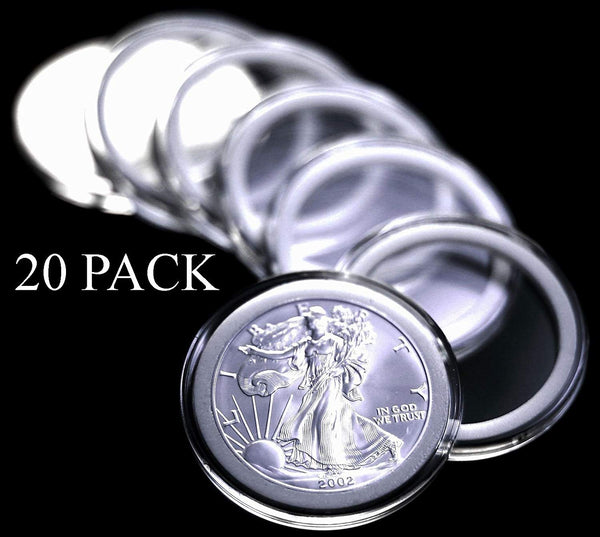 Top Stage 20 Air-Tite Coin Holder Capsules for Silver Eagle Coins, AC-COIN3-Q20