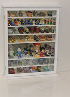 Wall Display Case Cabinet for Just the Right Shoe, Miniatures Figurines, Wall Curio SC13 (White Finish)