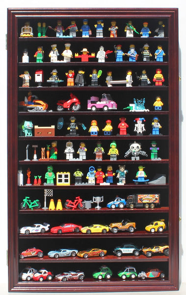 Hot Wheels Matchbox 1/64 scale Diecast Display Case Cabinet Wall Rack w/UV Protection