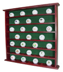Golf Gift, 49 Golf Ball Display Case Rack Cabinet, NO door, Mahogany, GB20-MA